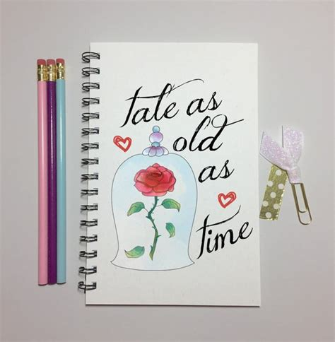 beauty journal tale as old as time beauty and the beast rose journal