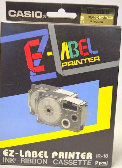 Casio Ez Label Printer White Black Ink 18 Mm Yellow Line Xr 18 T W Y casio ez label printer ink ribbon cassette 2pcs ir 18 gold black ink surplus trading