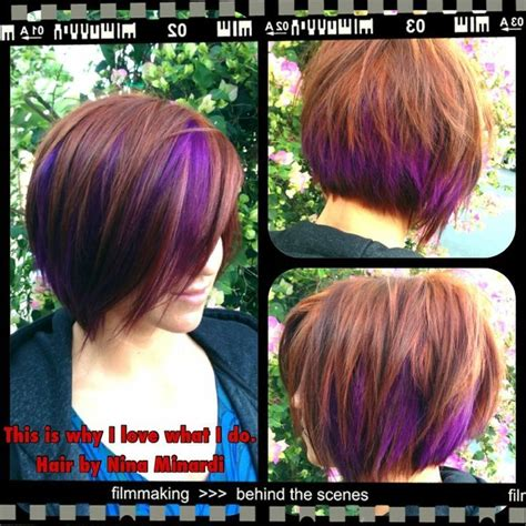 hair color swatches on pinterest short highlighted peekaboo highlights bob peekaboo colorblocking these