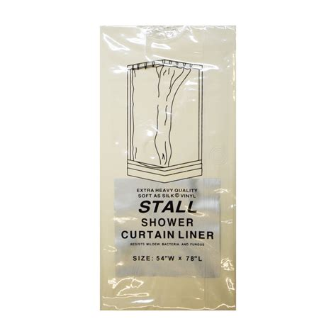 stall shower curtain liner stall size vinyl shower curtain liner 54 curtain
