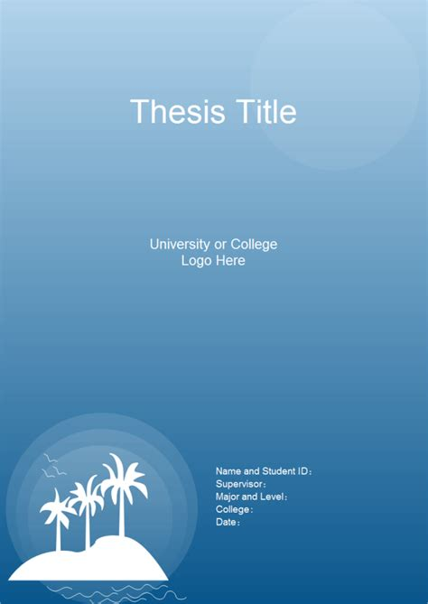 Floor Plan Software by Thesis Title Page Free Thesis Title Page Templates