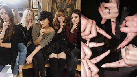 tattoo of us cast pretty little liars cast get matching tattoos after series