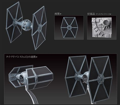 Promo Original Bandai Model Kit Starwars Tie Advance X1 wars tie fighter 1 72 model kit