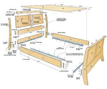 bed plans woodworking bed plans diy blueprints