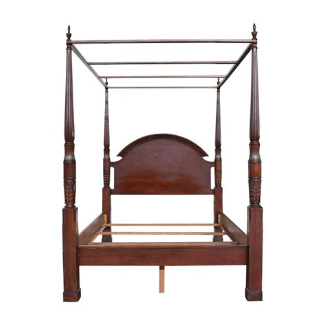 wooden canopy bed frames decosee com 75 off dark wood queen bed frame beds