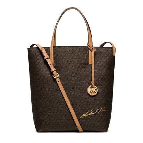 New Motif Michael Kors Specchio Shopping Tote 4in1 michael kors signature logo large convertible tote in brown lyst
