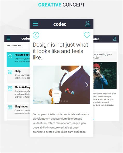 codec mobile html template mobile download free
