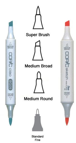 Copic Sketch Nib Brush 3pcs Refcsn001 home carpe diem markers copic sketch and ciao marker nibs