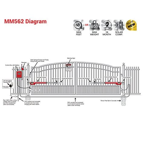 swing gate opener reviews mighty mule mm562 automatic gate opener for heavy duty