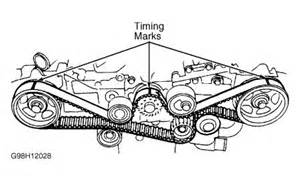 2010 Subaru Legacy Timing Belt Replacement 2000 Subaru Outback L Timming Belt Marks Engine