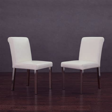 lovely white leather dining chairs furniture designs