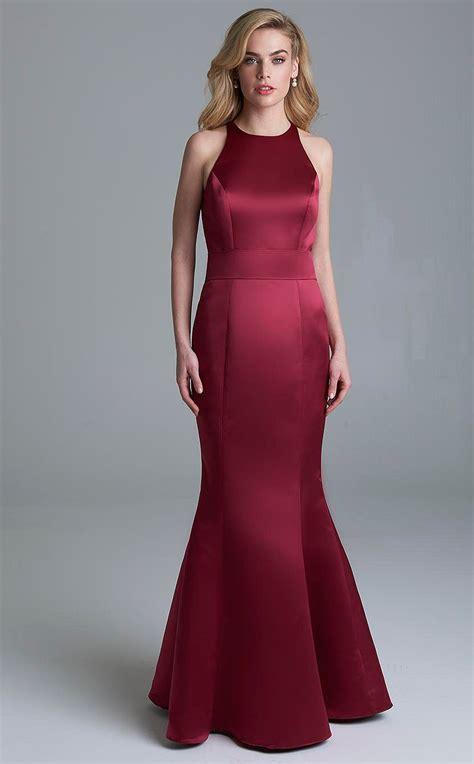 Bridesmaid Dresses Area - satin burgundy mermaid bridesmaid dress bd ca1518