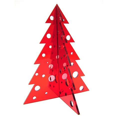 acrylic 3d christmas tree tabletop decorations the pink