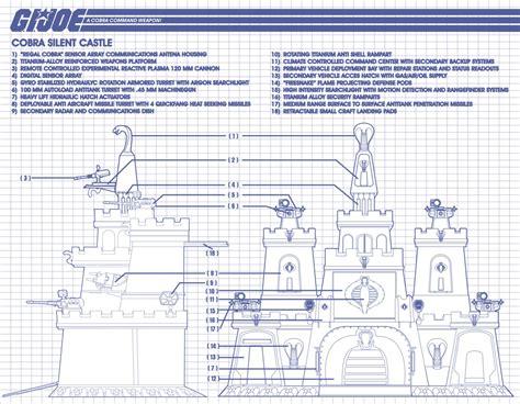 custom blueprints custom g i joe diorama silent castle cobra headquarters
