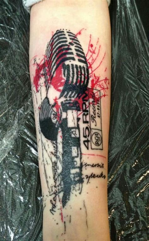 studio microphone tattoo designs microphone tattoo tattoo oldschool is it art