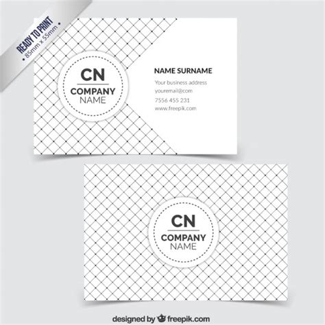 pattern of business card business card with checkered pattern vector free download