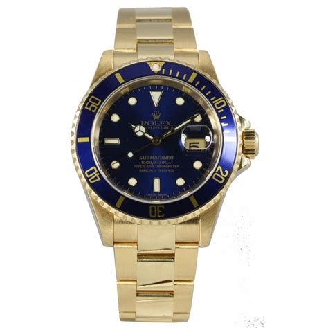 pre owned rolex s 18ct submariner 17430 pre