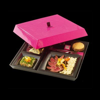 Paper Box Lunch Ukuran M fauchon meal box lunch box paper box lid base structure