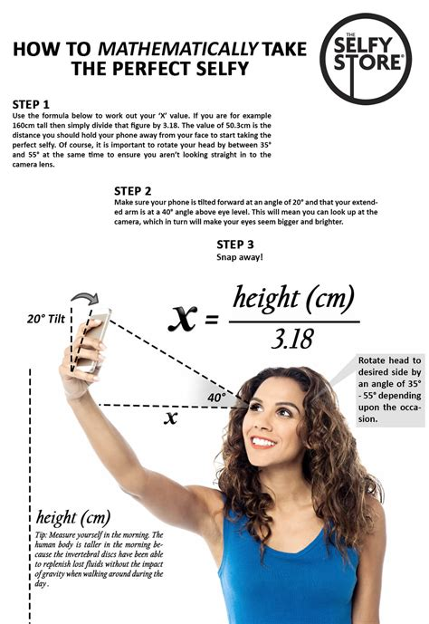 how it takes to a how to mathematically take the selfie infographic