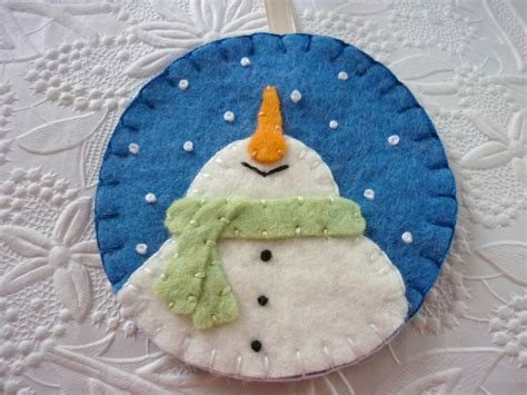 felt snowman ornament felted wool felt christmas decoration