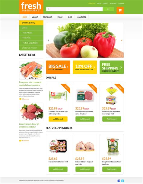 Grocery Web Shop Woocommerce Theme 51254 Free Grocery Website Templates