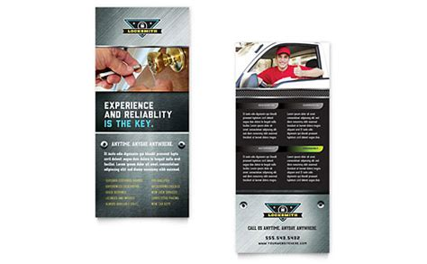 pages rack card template locksmith rack card template design