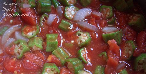 Charming Okra And Tomatoes #1: Uncooked-okra-and-tomatoes.jpg