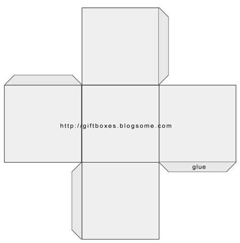 square box template paper printing graphics clip art