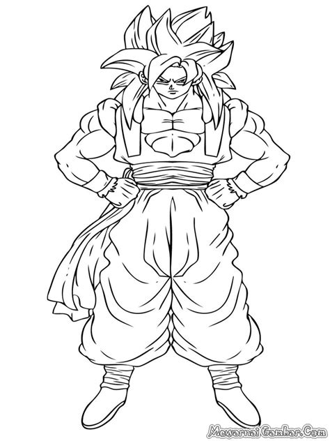Dragon Ball Z Gogeta Coloring Pages | super saiyan 4 gogeta coloring pages