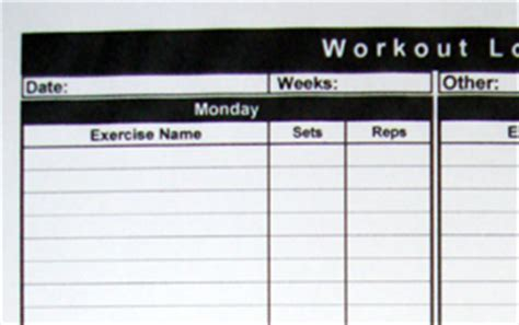 7 best images of basic workout logs printable printable printable workout log
