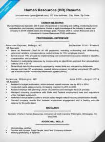 Resume Template Human Resources Human Resources Resume Sle Writing Tips Resume Companion