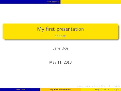 Latex Presentation Tex Latex Stack Exchange Tex Presentation Template