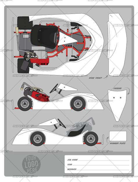 race car graphic design templates offset flat kart template 2 swoop school of racing