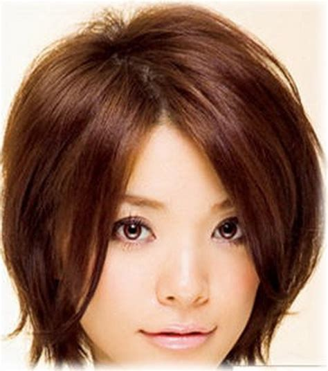 korean hairstyles for round face female short layered haircuts for round faces