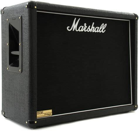 marshall 1936 2x12 cabinet marshall 1936v 140 watt 2x12 quot extension cabinet with v30s