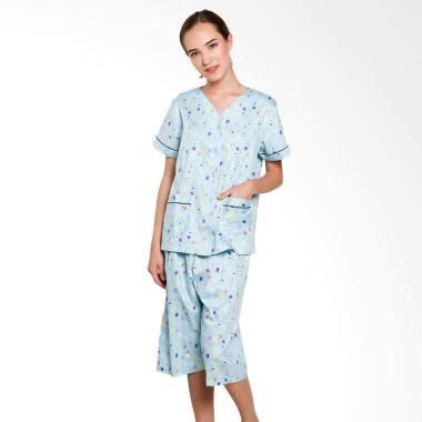 jual just fashion katun piyama baju tidur wanita biru harga kualitas terjamin