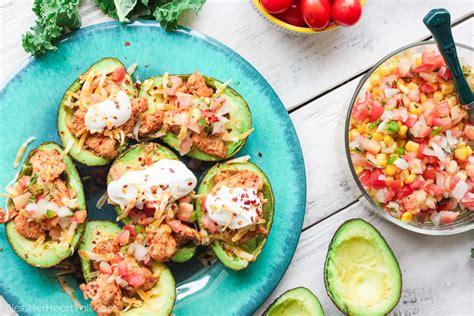 prawn taco boats avocado taco boats