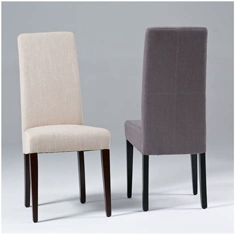 High back fabric dining room chairs