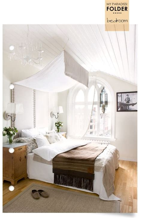 draped ceiling bedroom bed drape cottage inspiration pinterest bed drapes