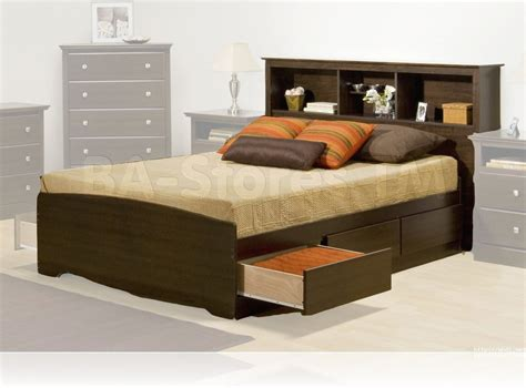 apartment bedroom with minimalist headboard storage wood