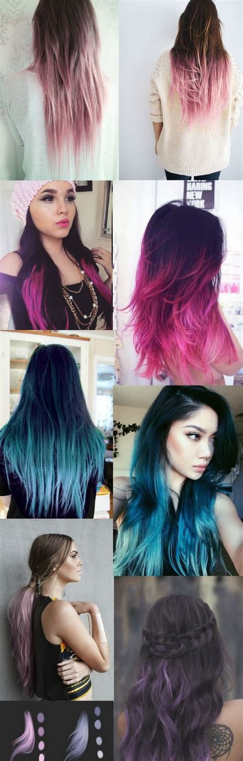 Hair Styes Dye At Bottom | ombre hair picmia