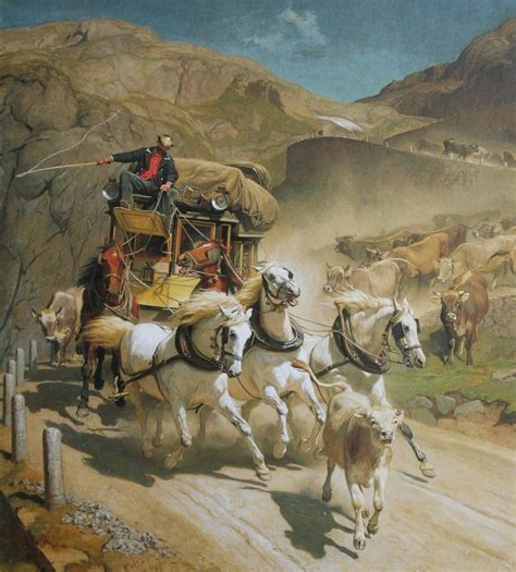 Lpost Or L Post by Historische Reisepost Mit Der Gotthard Postkutsche