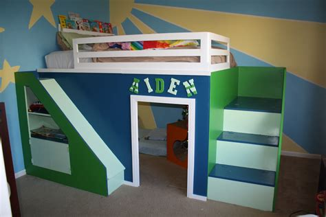 Loft Bed Diy White My Build Size Playhouse Loft Bed Diy Projects