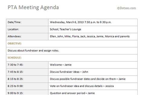 templates for minutes of meetings and agendas meeting agenda template word 2007 images