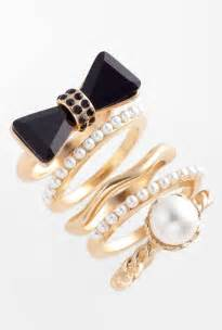 Name Rings Gold Sliver Stackable Rings For Girls