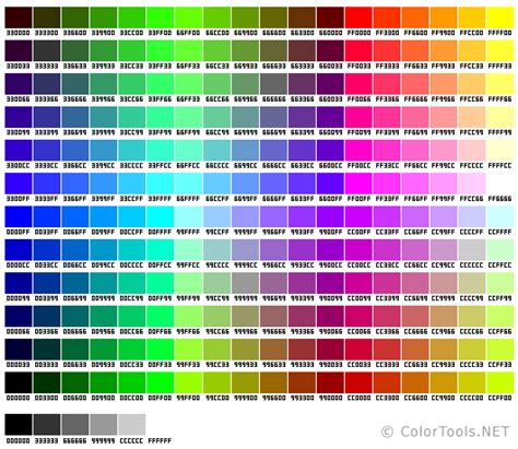 websafe color chart colortools net