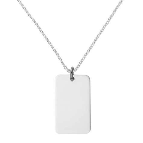 Tag Necklace silver tag necklace