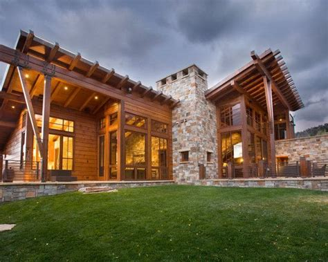 rustic contemporary homes beautiful stone houses tags rustic exterior home design
