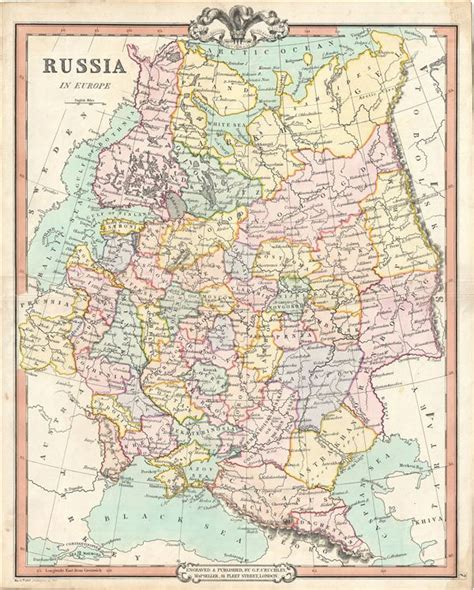 russia in europe map russia in europe geographicus antique maps