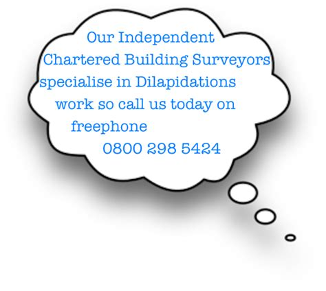 dilapidations section 18 what sort of surveyor can help dilaps help